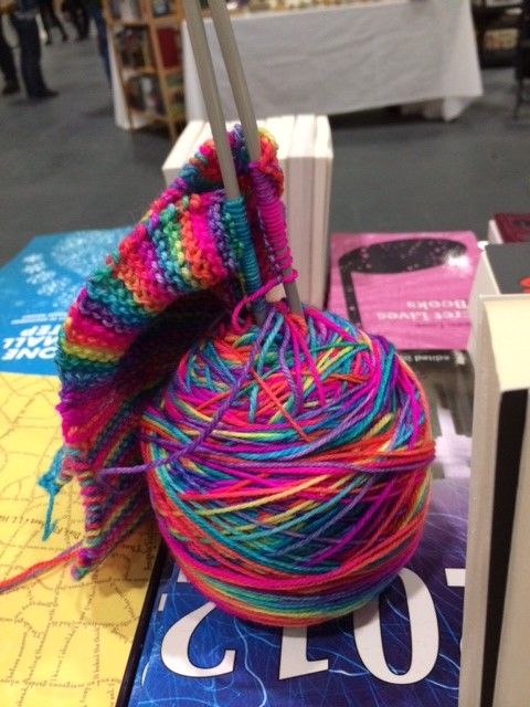 Dealers Room and Twelve Planets Scarf at LonCon 3