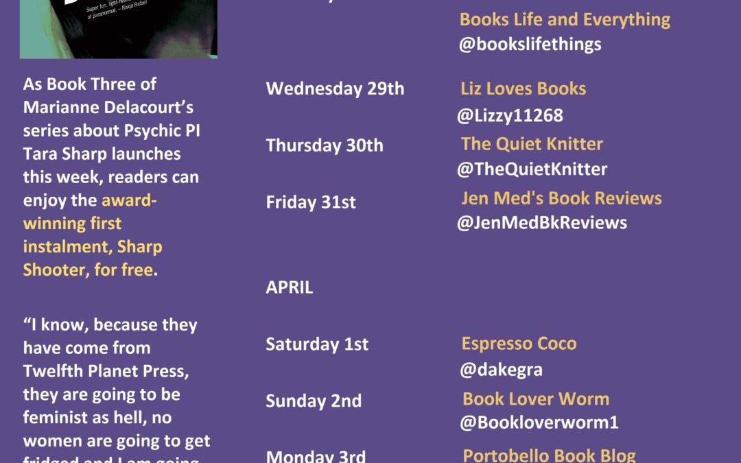 Follow the 'Too Sharp' Book Tour